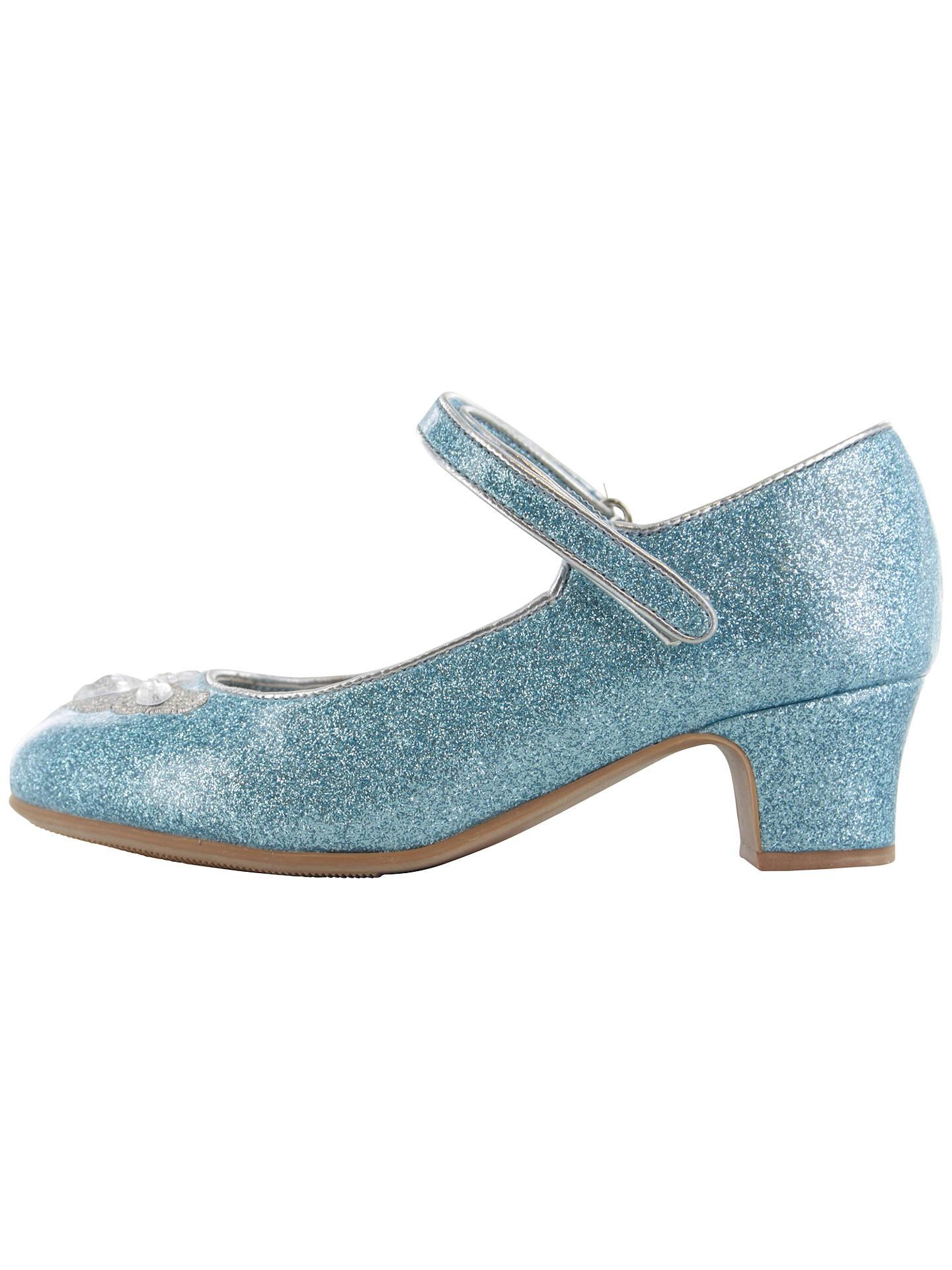 5e742b8c52442 Disney Frozen Elsa & Anna Glitter Shoes, Blue at John Lewis & Partners