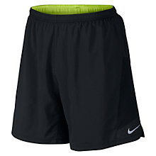 "Buy Nike 7"" Pursuit 2-in-1 Running Shorts, Black/Volt Online at johnlewis.com"