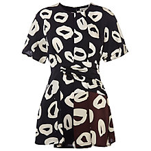 Buy Whistles Marisa Loop Print Drape Tunic Top, Multi Online at johnlewis.com