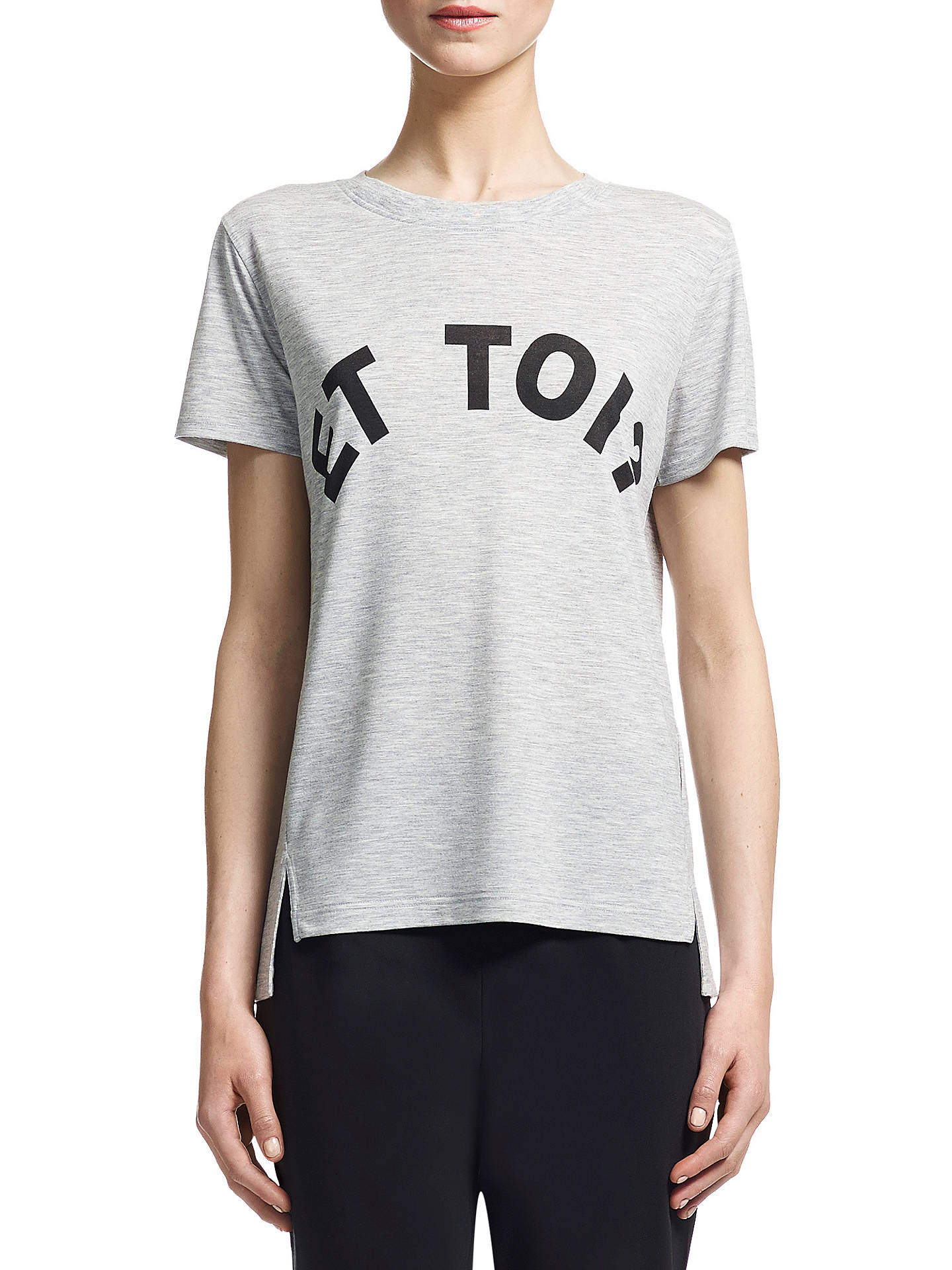 Buy Whistles Et Toi Logo T-Shirt, Grey Marl, XS Online at johnlewis.com