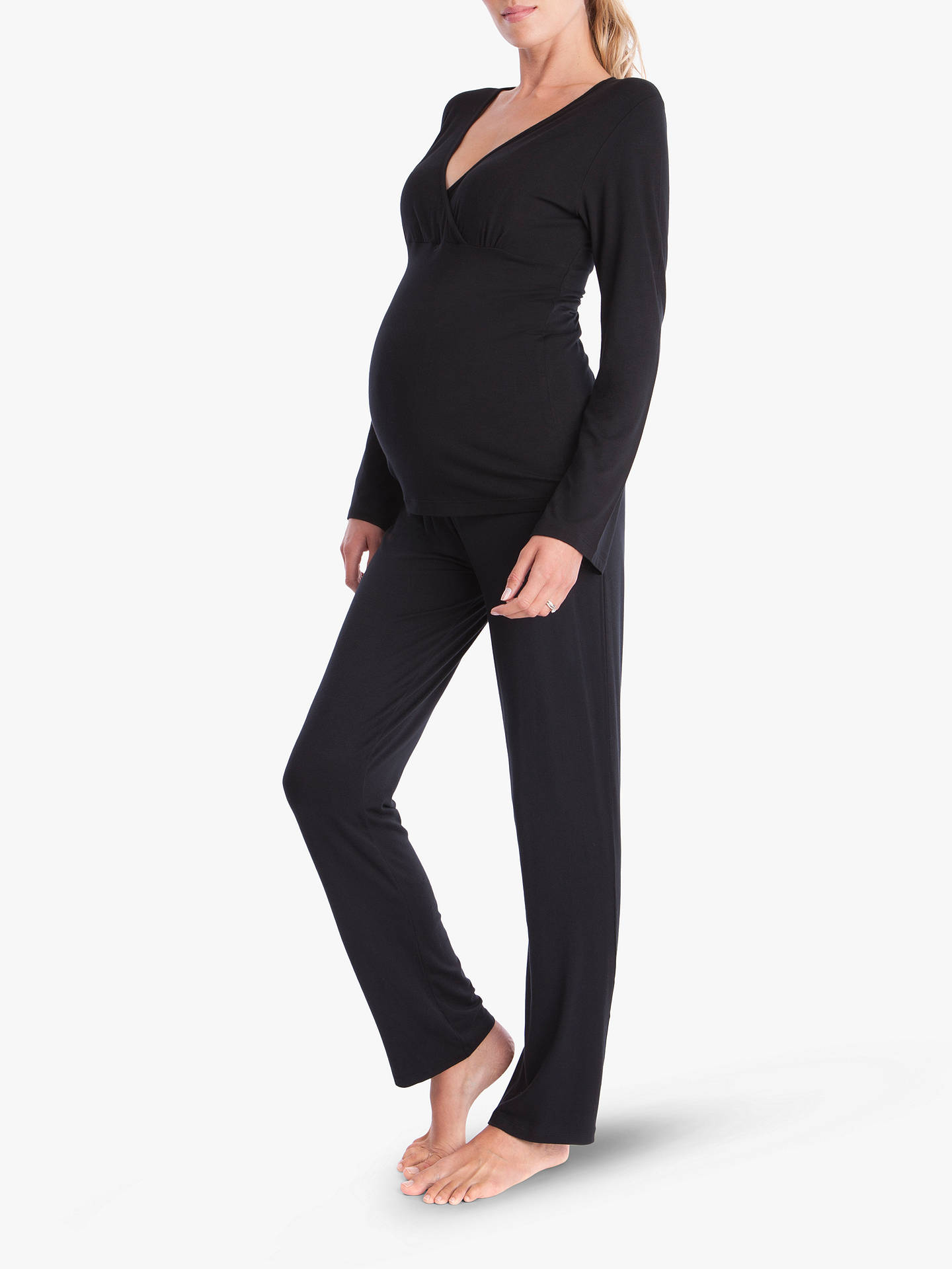 Buy Seraphine Camille Maternity Pyjamas, Black, S Online at johnlewis.com