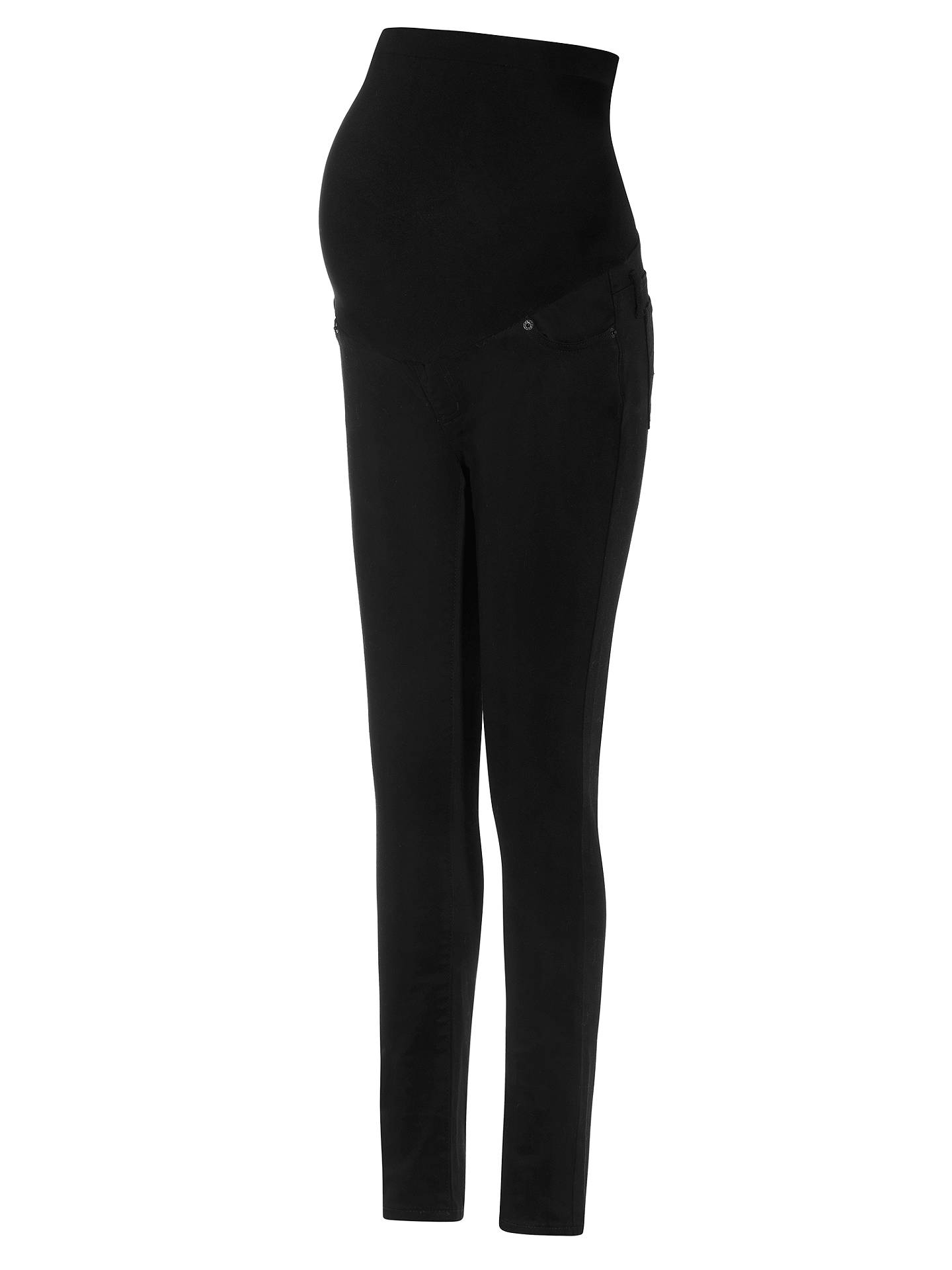 cf1041cd85396 Buy Séraphine Remy Maternity Skinny Jeans, Black, 8 Online at johnlewis.com  ...