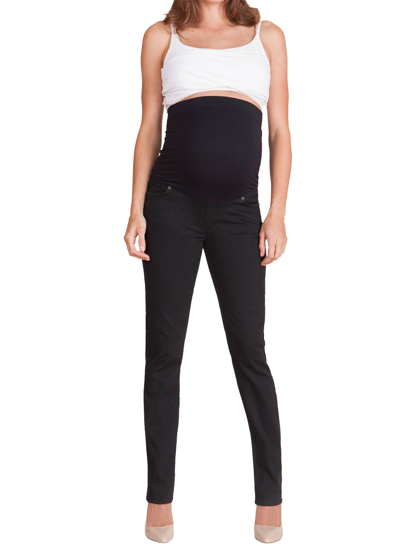 BuySéraphine Remy Maternity Skinny Jeans, Black, 8 Online at johnlewis.com