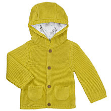 Buy John Lewis Baby Hooded Cardigan, Yellow Online at johnlewis.com