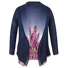 Buy Chesca Reversible Floral Border Crush Pleat Shrug, Navy Online at johnlewis.com
