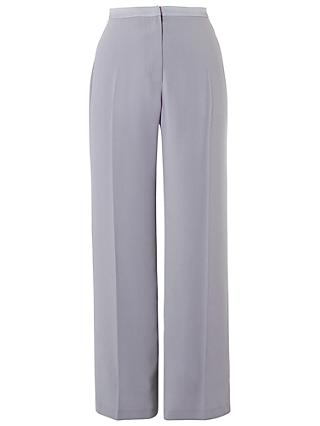 Chesca Top Stitched Waist Satin Back Trousers, Grey