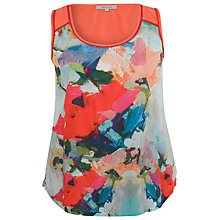 Buy Chesca Contrast Print Top, Sky / Coral Online at johnlewis.com