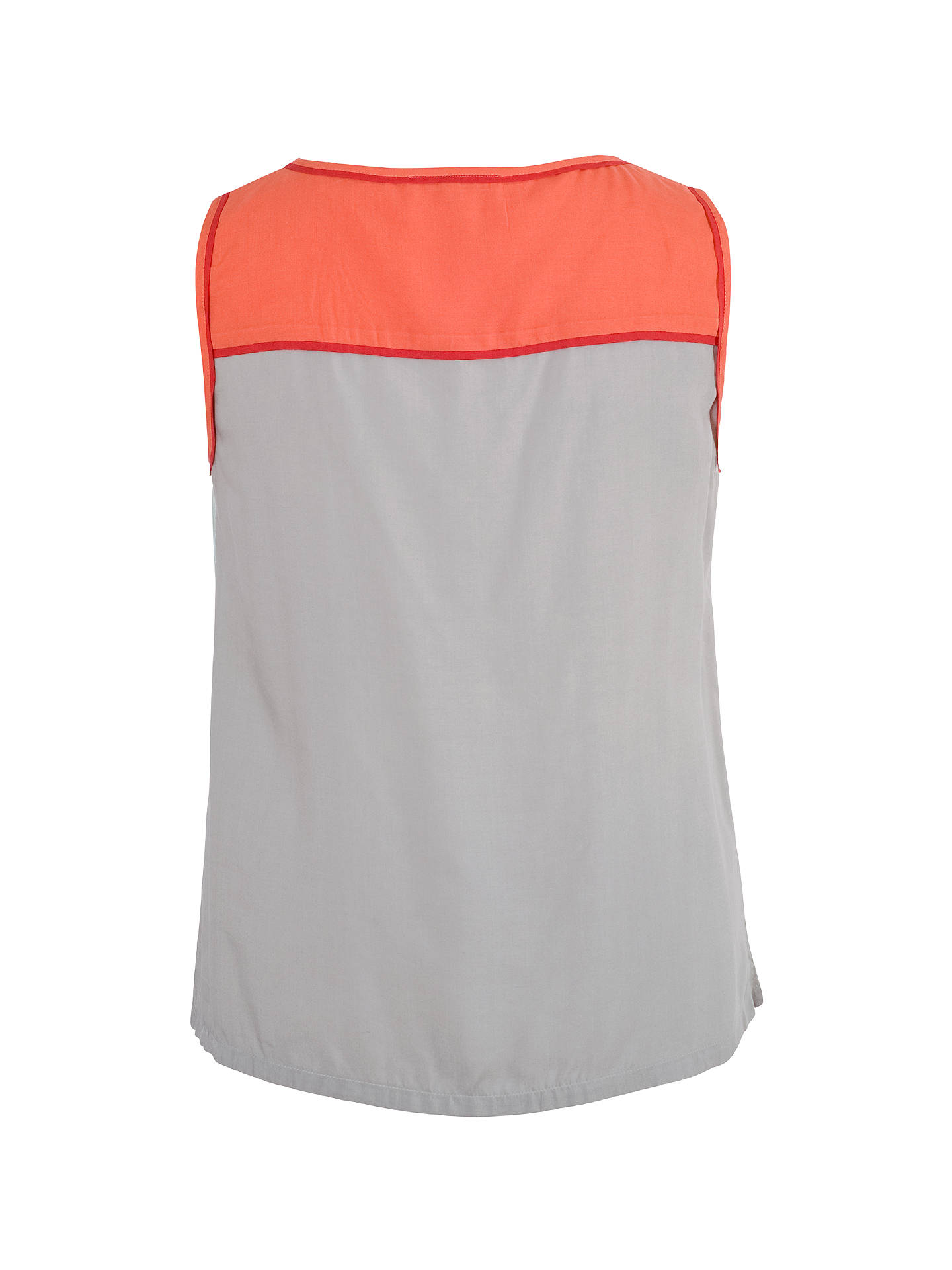 Buy Chesca Contrast Print Top, Sky / Coral, 12-14 Online at johnlewis.com