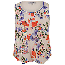 Buy Chesca Small Floral Print Camisole Top, Cream Online at johnlewis.com