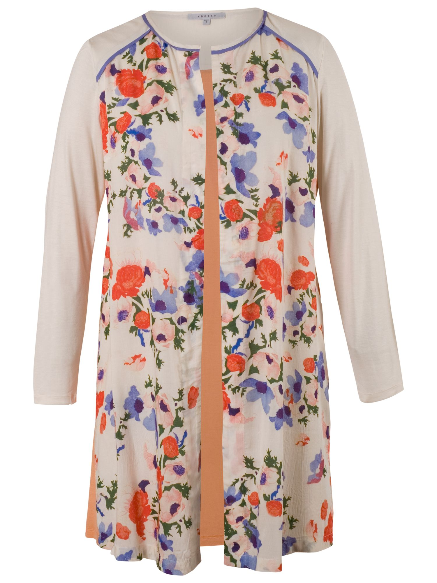 Chesca Chesca Floral Jacket, Cream