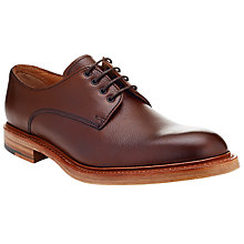 Buy JOHN LEWIS & Co. Made in England Leather Derby Shoes, Ox Blood Online at johnlewis.com