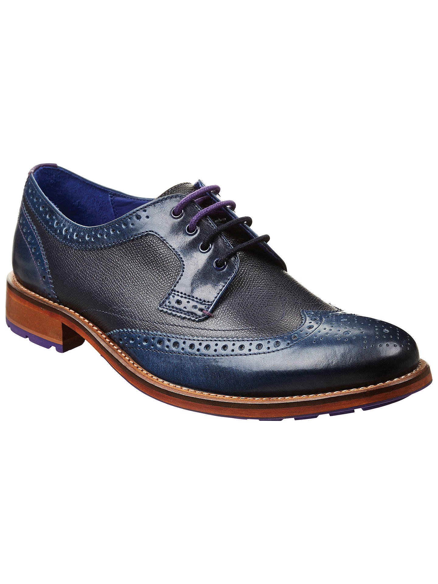 12311ea65fac02 Ted Baker Cassius Leather Wingtip Derby Brogues at John Lewis   Partners