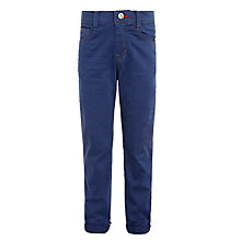 Buy John Lewis Boys' Five Pocket Authentic Trousers, Navy Online at johnlewis.com