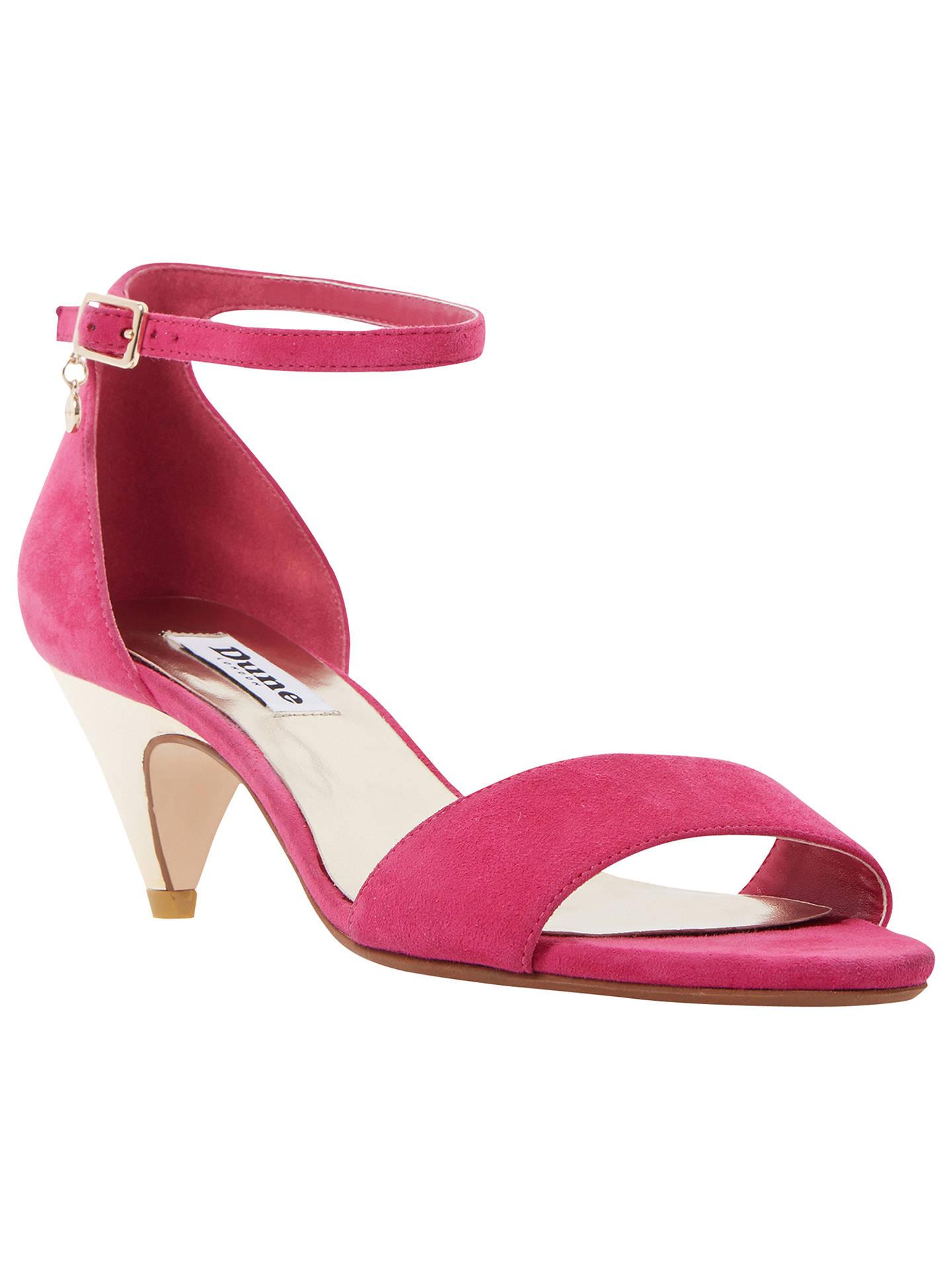 6fc5ad9a33 Buy Dune Marina Kitten Heel Two Part Sandals, Raspberry Suede, 3 Online at  johnlewis ...