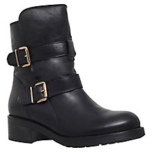 Buy Kurt Geiger Richmond Leather Low Heel Ankle Boots, Black Online at johnlewis.com
