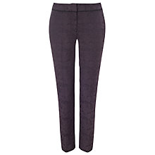 Buy Phase Eight Issy Jacquard Trousers, Charcoal Online at johnlewis.com