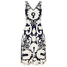 Buy Phase Eight Roma Tapework Dress, Cobalt/Ivory Online at johnlewis.com