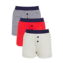 Buy John Lewis Boys' Boxers, Pack of 3, Red/Blue Online at johnlewis.com