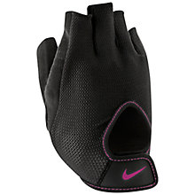 Buy Nike Women's Fundamental Training Gloves, Black/Vivid Pink Online at johnlewis.com