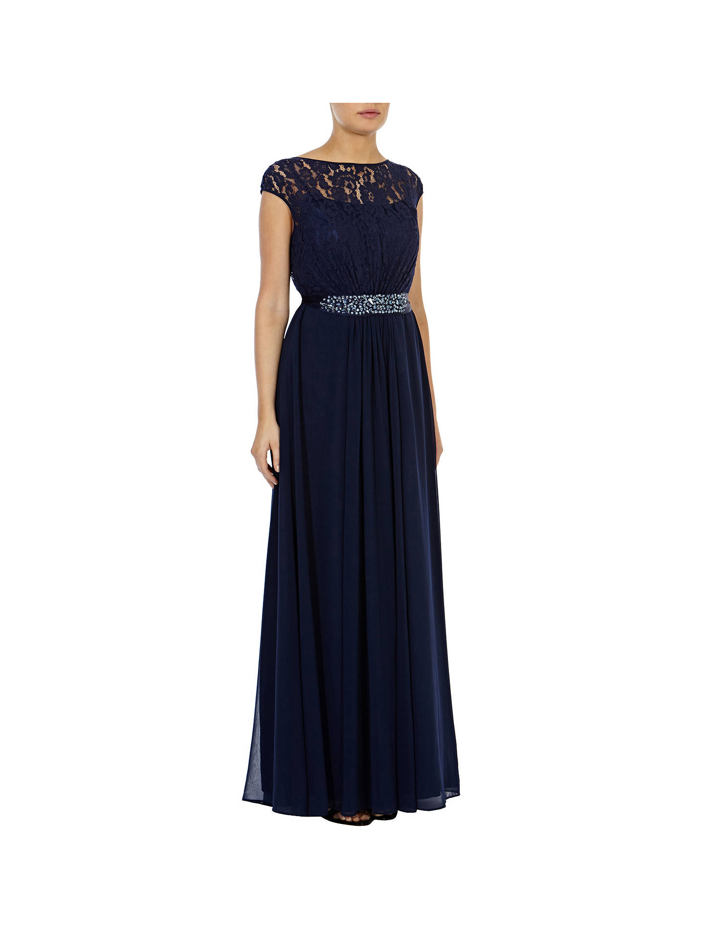 cfe9b35f7bacb Buy Coast Lori Lee Lace Maxi Dress, Navy, 6 Online at johnlewis.com ...