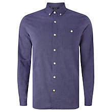 Buy JOHN LEWIS & Co. Square Weave Laundered Cotton Shirt, Cobalt Blue Online at johnlewis.com