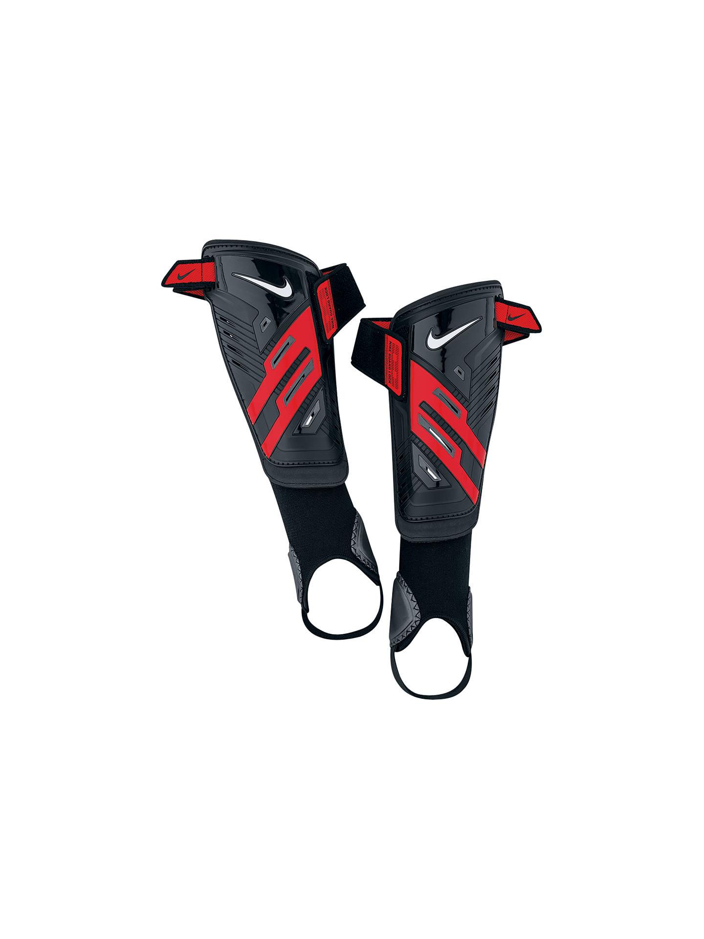 travesura máximo Beca  Nike Protegga Shield Shin Pads, Black/Red at John Lewis & Partners