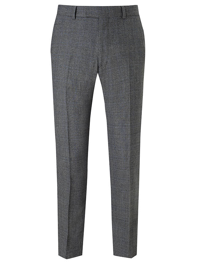 Buy Richard James Mayfair Milled Prince of Wales Check Suit Trousers, Charcoal, 32S Online at johnlewis.com
