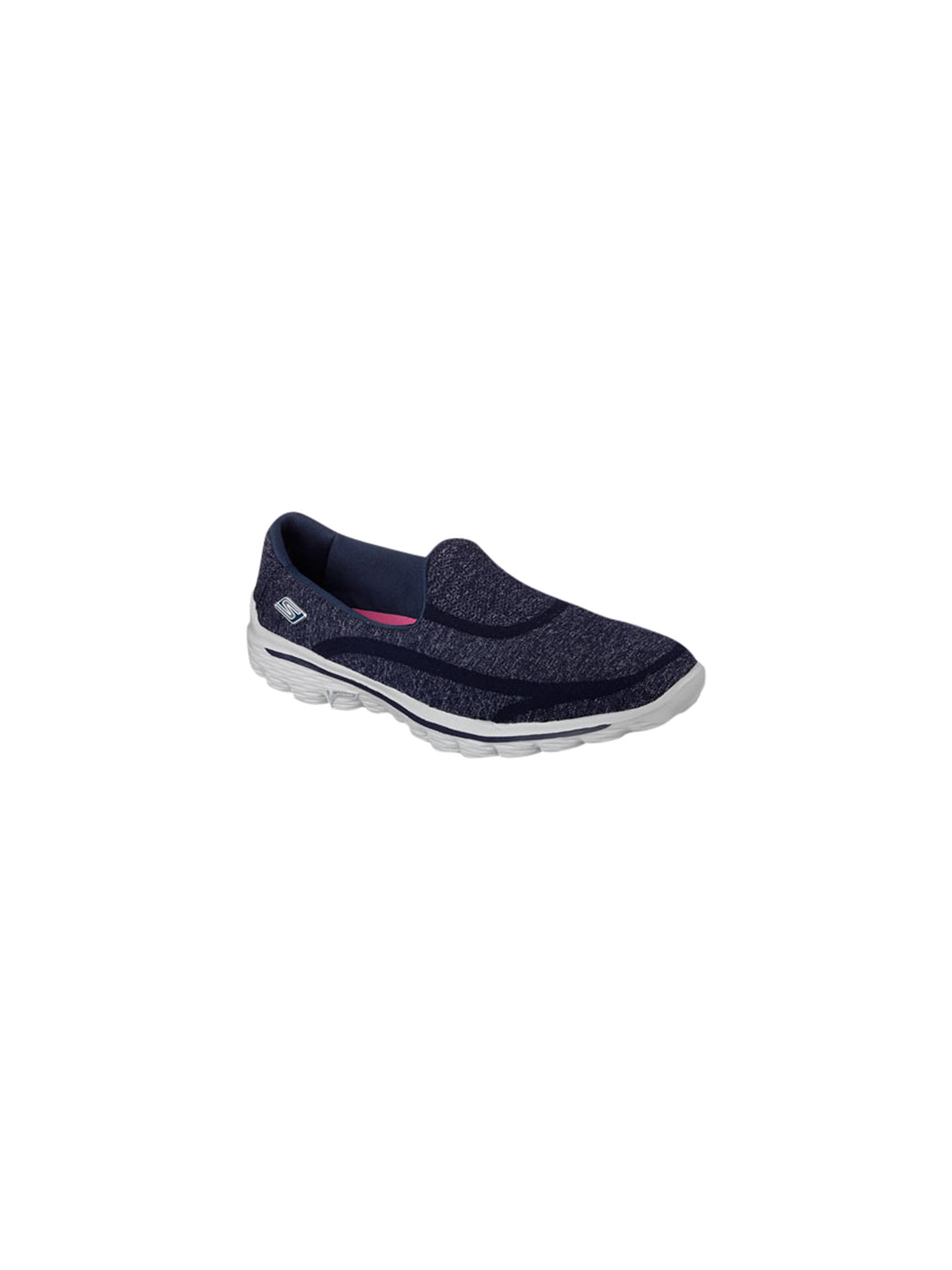 BuySkechers GOwalk 2 Super Sock Walking Shoes, Navy, 4 Online at johnlewis.com