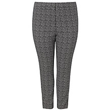 Buy Studio 8 Alexa Jacquard Trousers, Black/White Online at johnlewis.com