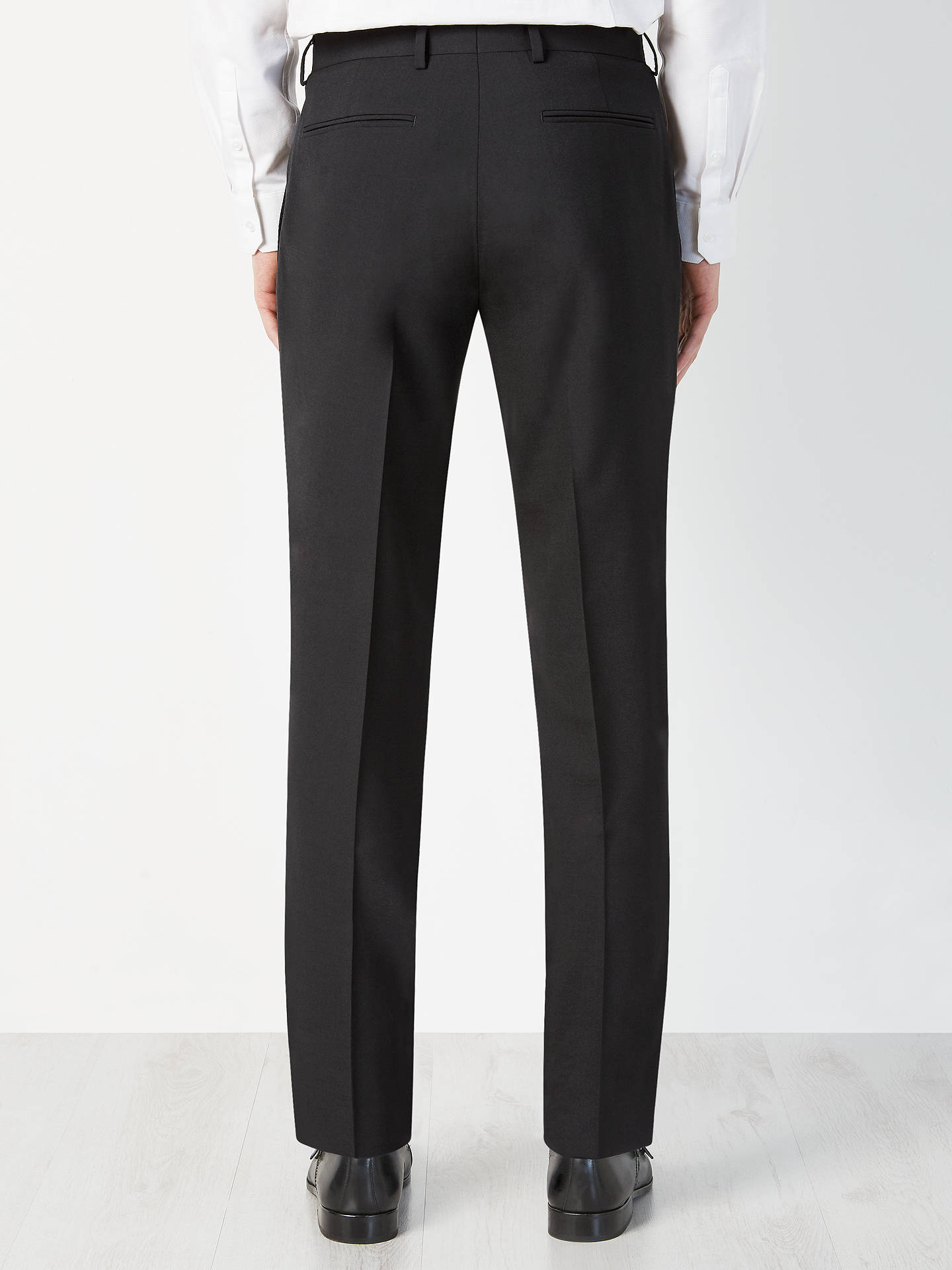 BuyKin Enno Slim Fit Stretch Plainweave Suit Trousers, Black, 30S Online at johnlewis.com