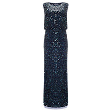 Buy Phase Eight Cleo Sequin Full Length Dress, Midnight Online at johnlewis.com