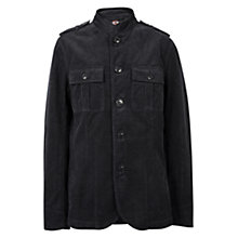 Buy Pretty Green Lennon Cord Jacket, Black Online at johnlewis.com