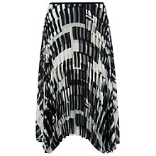 Buy Damsel in a dress Feathers Pleated Skirt, Black/White Online at johnlewis.com