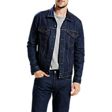 Buy Levi's The Trucker Denim Jacket, Blue Rinse Online at johnlewis.com