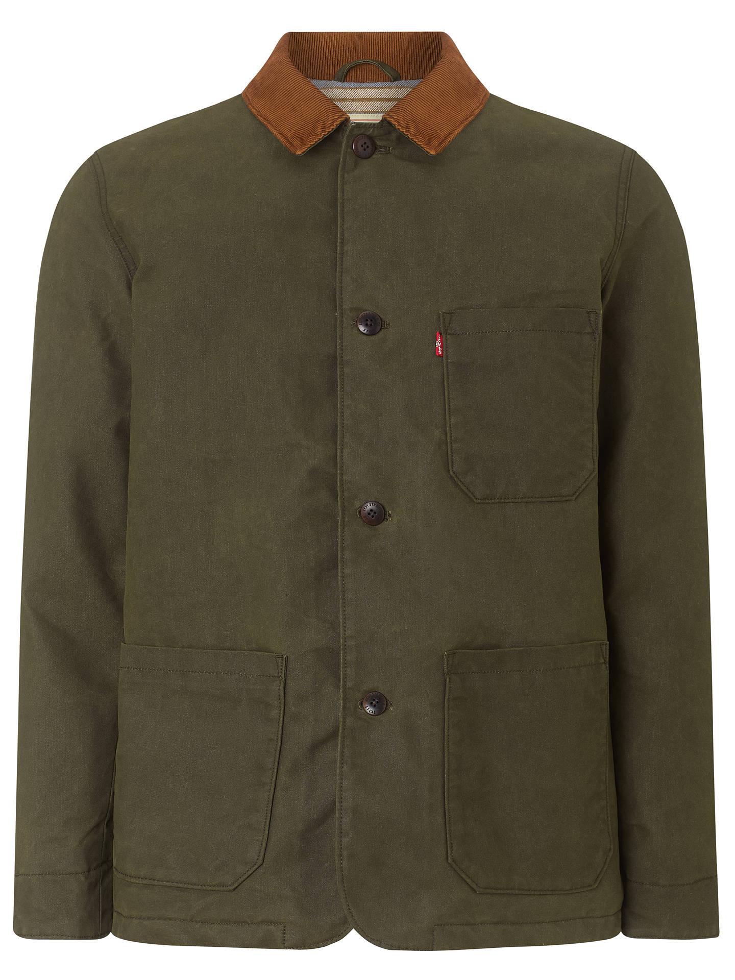 c9235b538 Buy Levi's Engineered Coat Wax Cotton Mix Jacket, Rosin, S Online at  johnlewis.