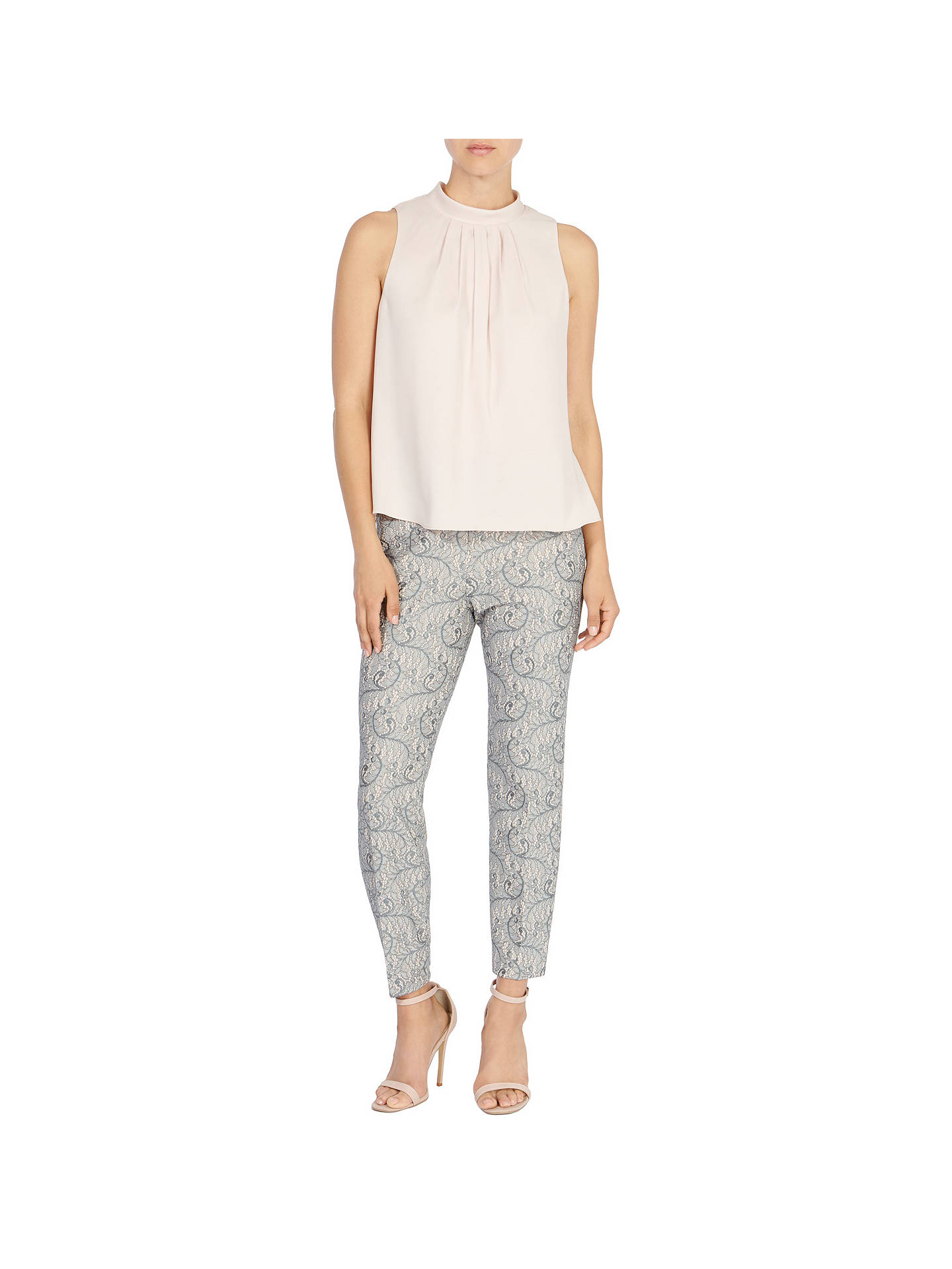 Buy Coast Vienna Trousers, Grey, 6 Online at johnlewis.com