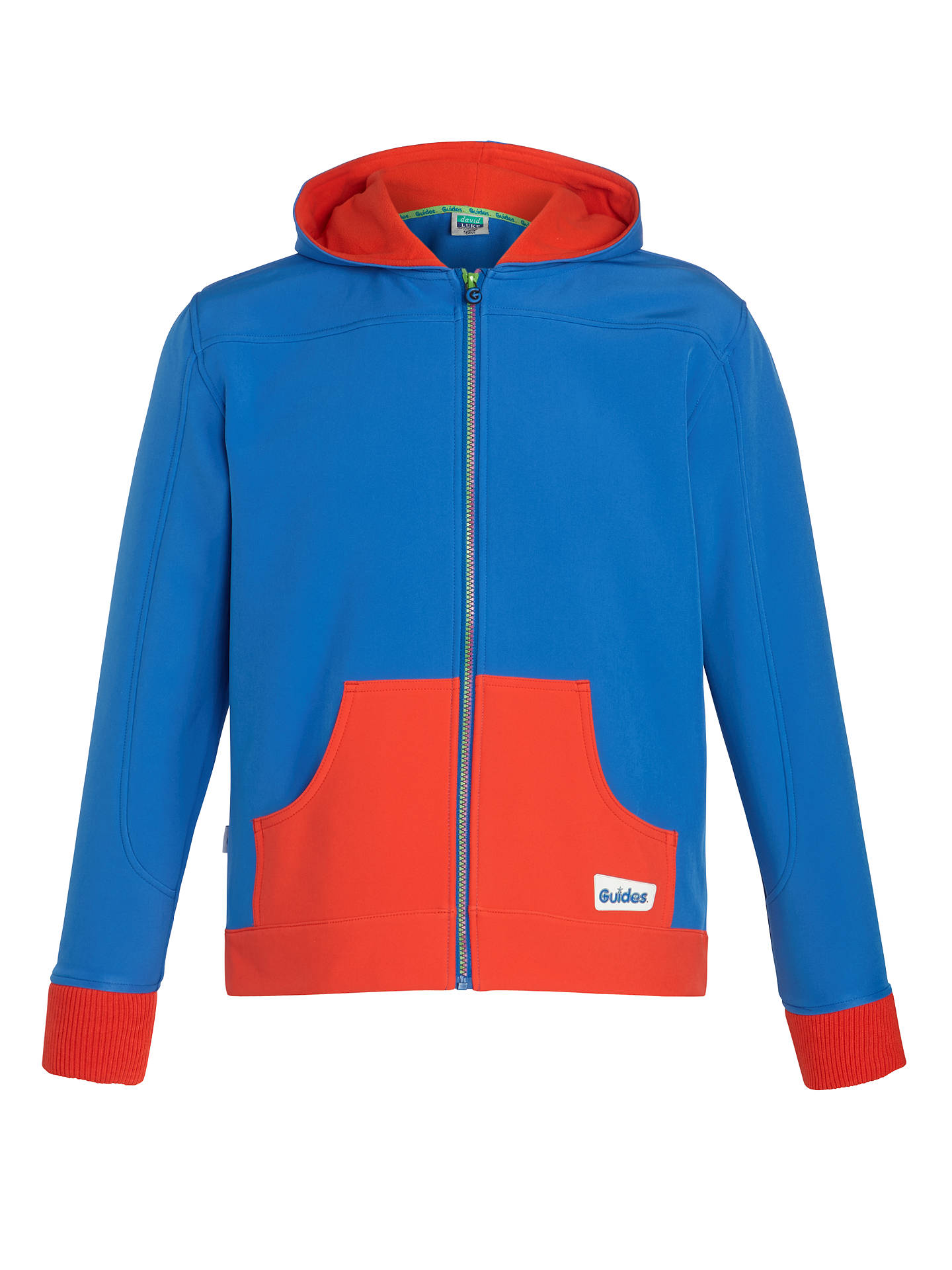 b191ce280 Girl Guide Hoodie, Red/Royal Blue