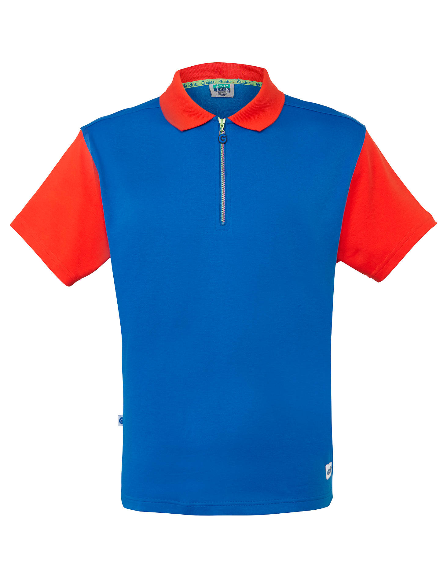 allineamento boschi Facile  Girl Guide Polo Shirt, Red/Royal Blue at John Lewis & Partners
