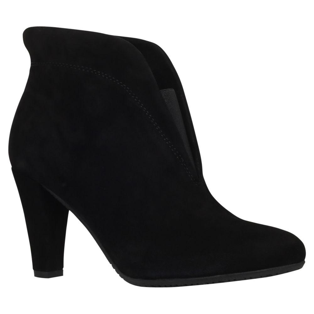 Carvela Comfort Carvela Comfort Rida Mid Heel Ankle Boots, Black Suede