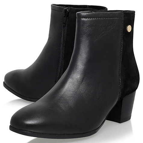 Buy Carvela Comfort Rani Block Heeled Ankle Boots, Black Leather Online at johnlewis.com