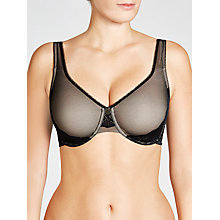 Buy John Lewis Minimiser Underwired Bra, Black Online at johnlewis.com