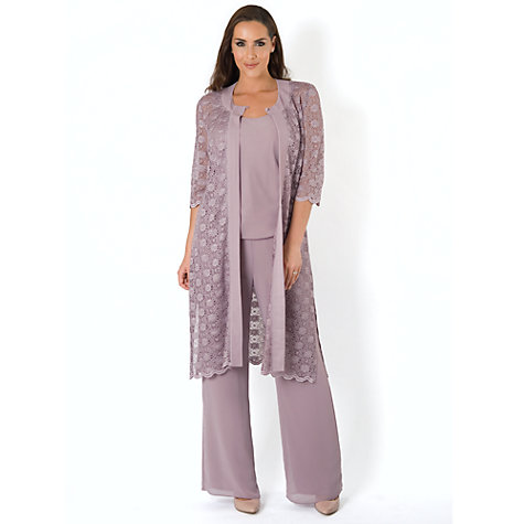 Buy Chesca Jersey Lined Chiffon Trouser Online at johnlewis.com