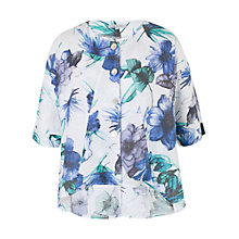 Buy Chesca Print Linen Jacket, White/Blue Online at johnlewis.com