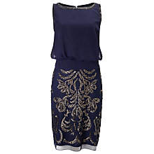 Buy Phase Eight Nuala Embellished Dress, Navy Online at johnlewis.com
