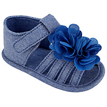 Buy John Lewis Baby Chambray Sandals, Blue Online at johnlewis.com
