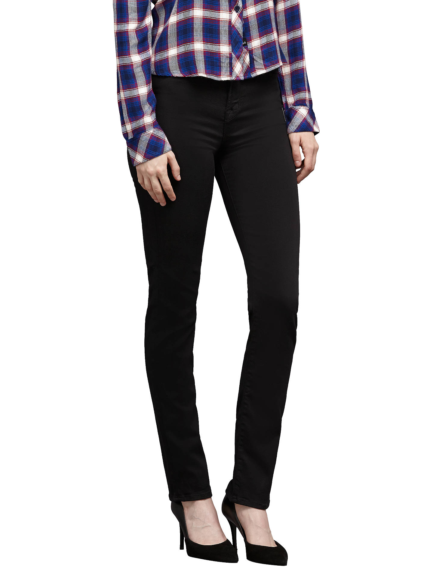 e92056f5bf30 Buy J Brand Maria High Rise Skinny Straight Jeans, Seriously Black, 24  Online at ...