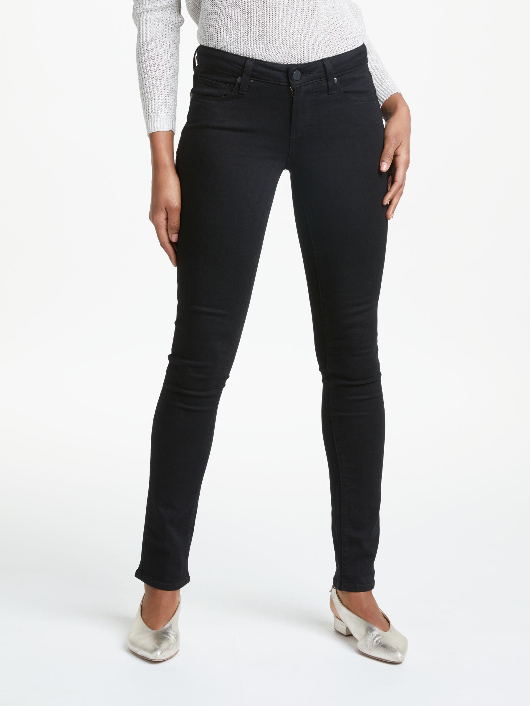 Paige Paige Skyline Mid Rise Skinny Jeans, Black Shadow