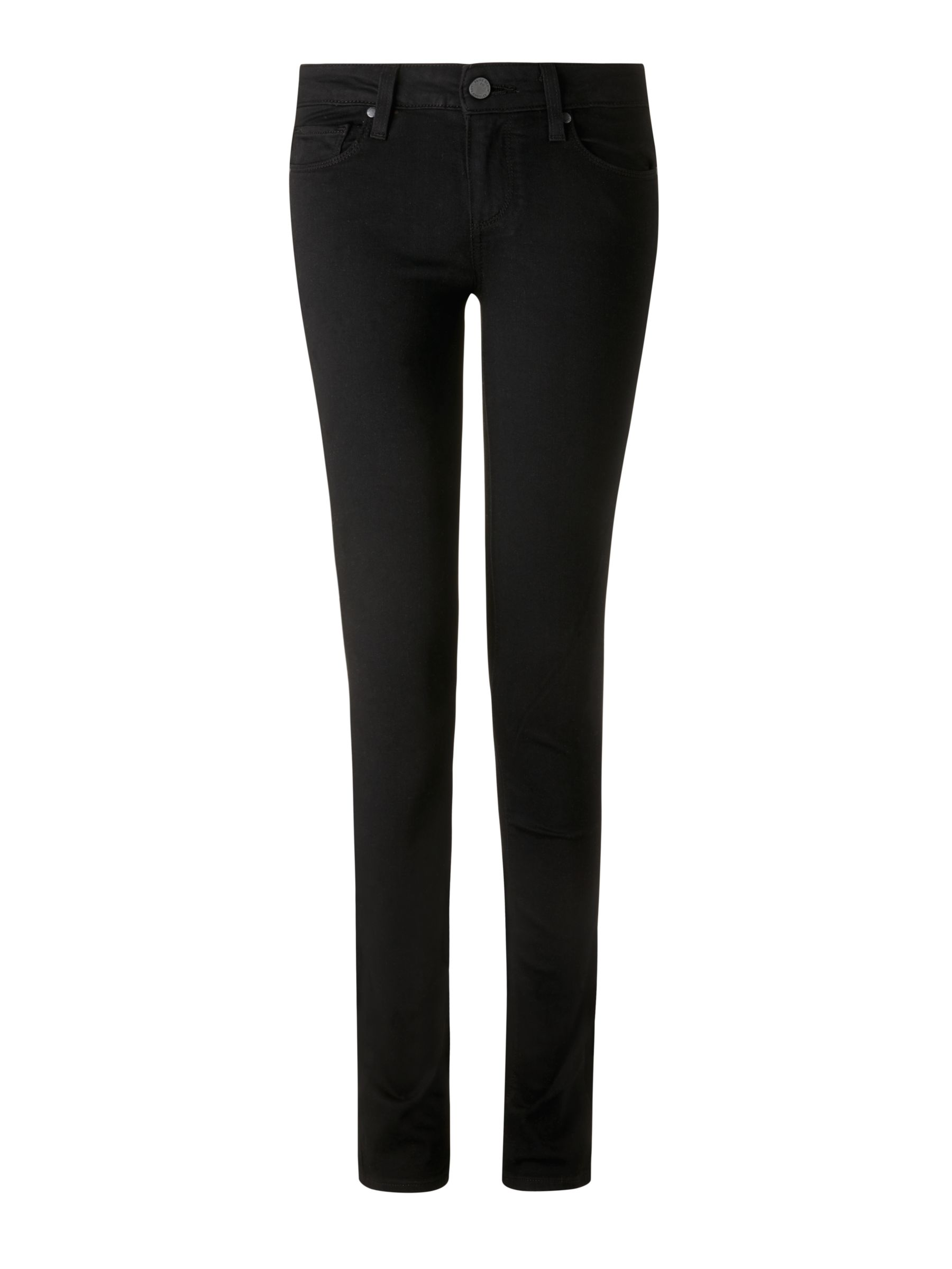 Buy Paige Skyline Mid Rise Skinny Jeans, Black Shadow, 24 Online at johnlewis.com