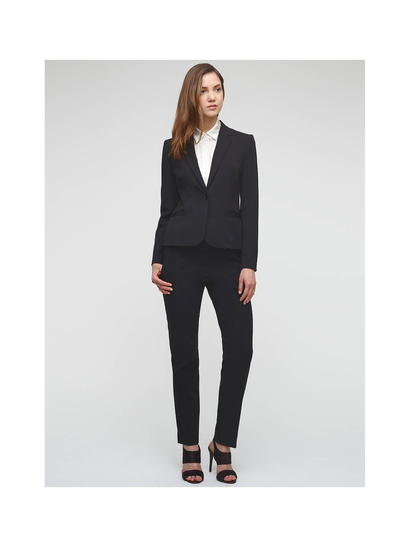 BuyJigsaw New Paris One Button Jacket, Black, 16 Online at johnlewis.com