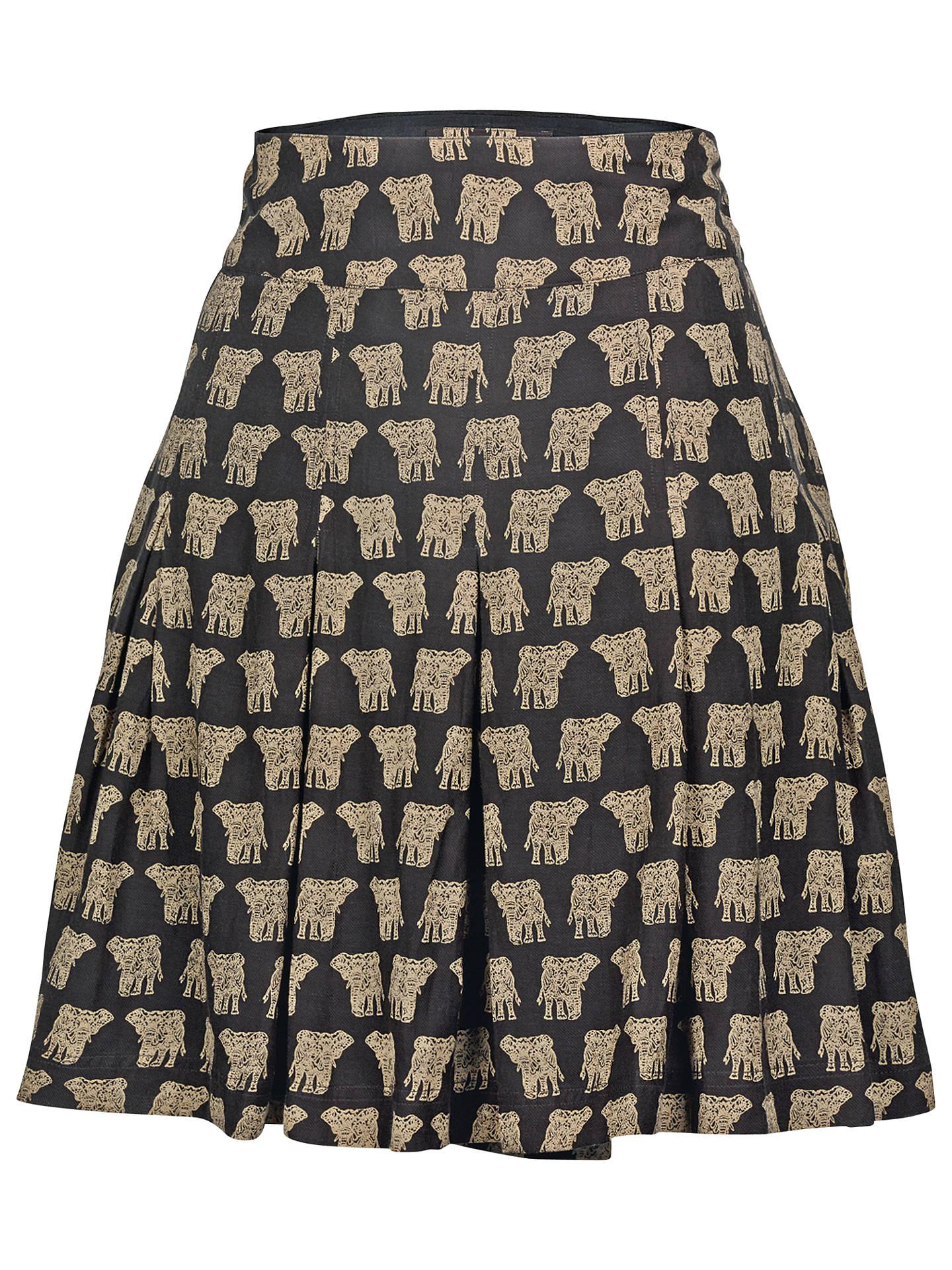 18383c3fe1 Buy Fat Face Pleat Elephant Cotton Skirt, Phantom, 6 Online at  johnlewis.com ...